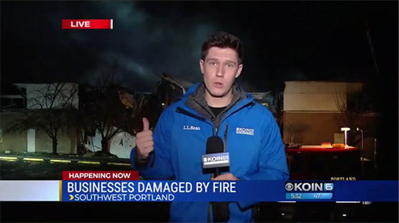 KOIN 6 News coverage of big fire at Macadam Center Business Park in Portland Oregon. These businesses needed a business continuity plan to recovery from this disaster.