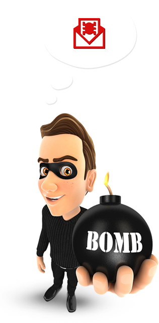 Cyber criminal hands you a big bomb that has its fuse lit. This is when you realize you need small business cyber security services fast.