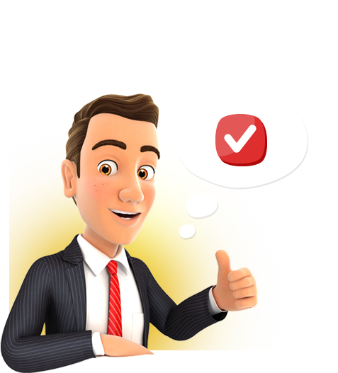 Happy business owner with thumbs up due to receiving 2 free hours of computer support or network support.