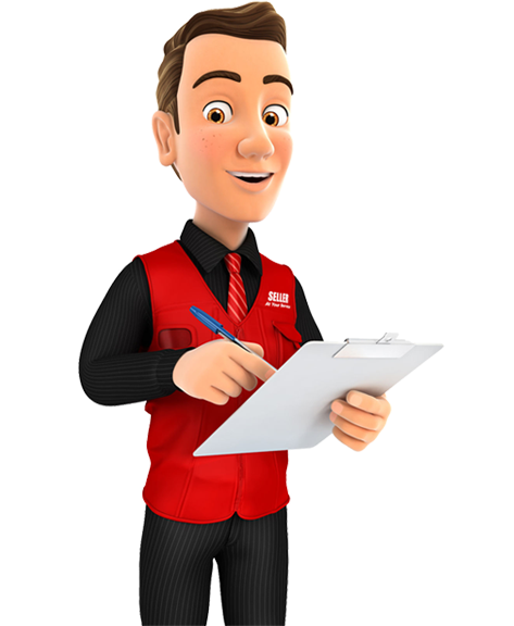 IT project professional with red shirt and clipboard ready to discuss what you need in your IT project.