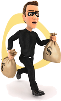 Cyber criminal stealing money from your business checking and savings accounts.