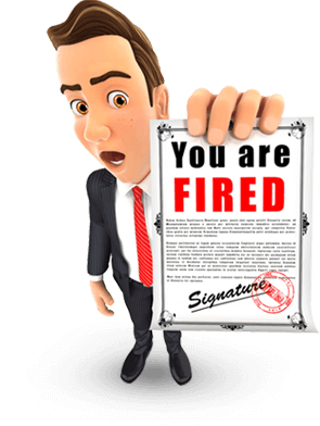 Having no IT services management and maintenance by a proactive Portland Managed Services Provider causes this business executive to receive a notice that he is fired because of IT problems.