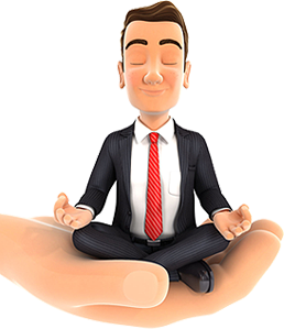 Portland small business owner happily meditating because we have helped over 700 business with IT issues!